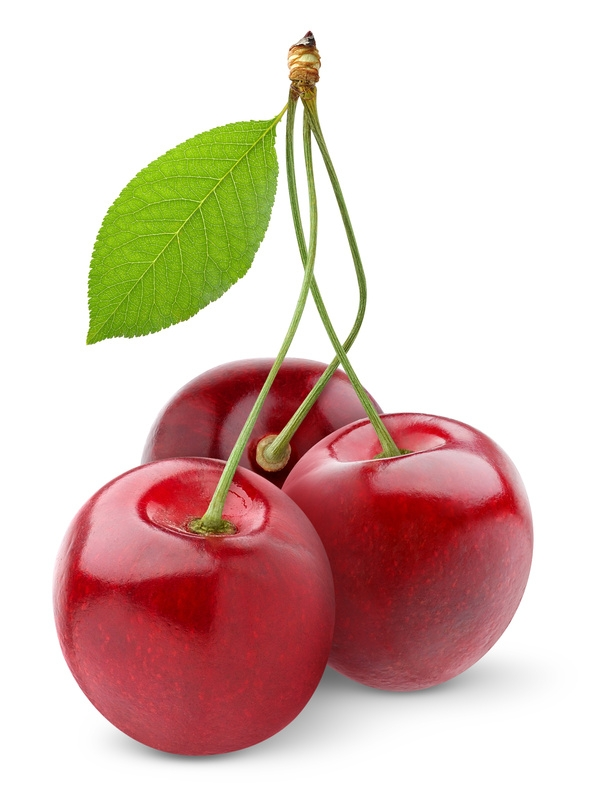 Sweet cherry isolated on white
